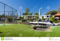 Waterfront Backyard Royalty Free Stock Images