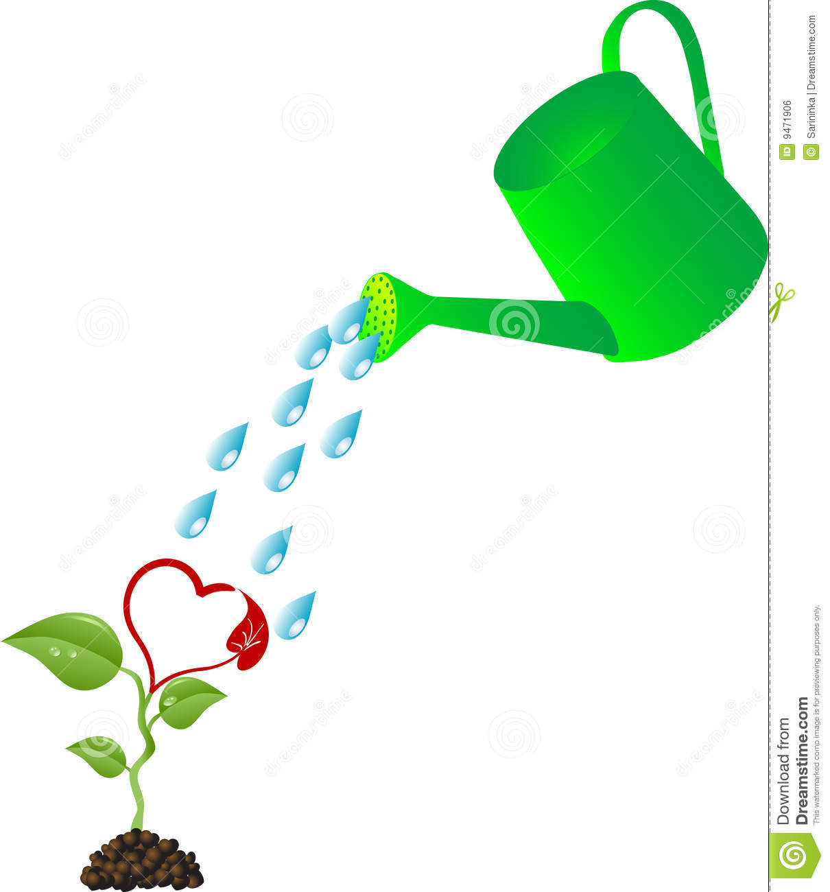 plant watering can pouring water