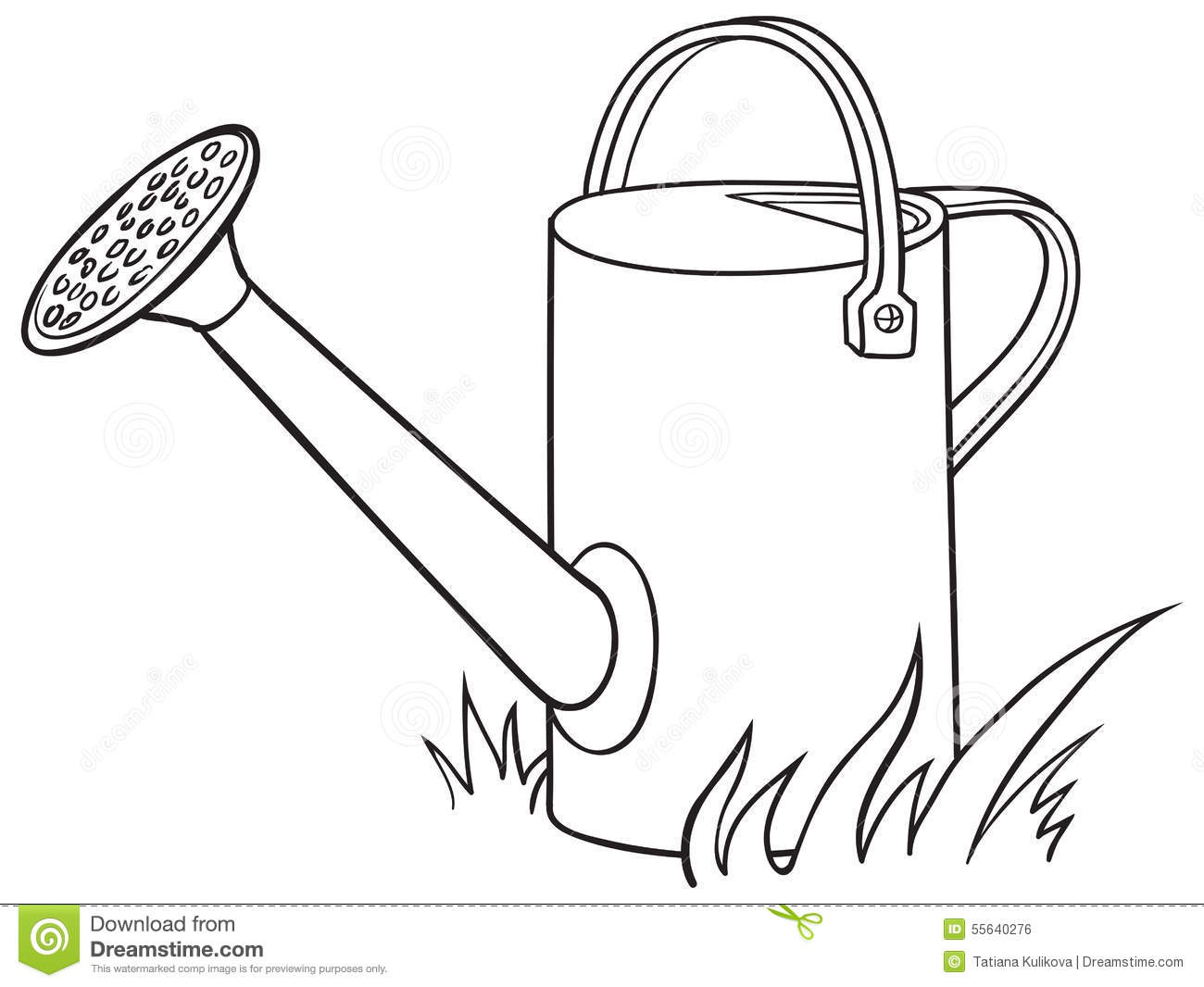 Watering Can In The Garden Stock Photo