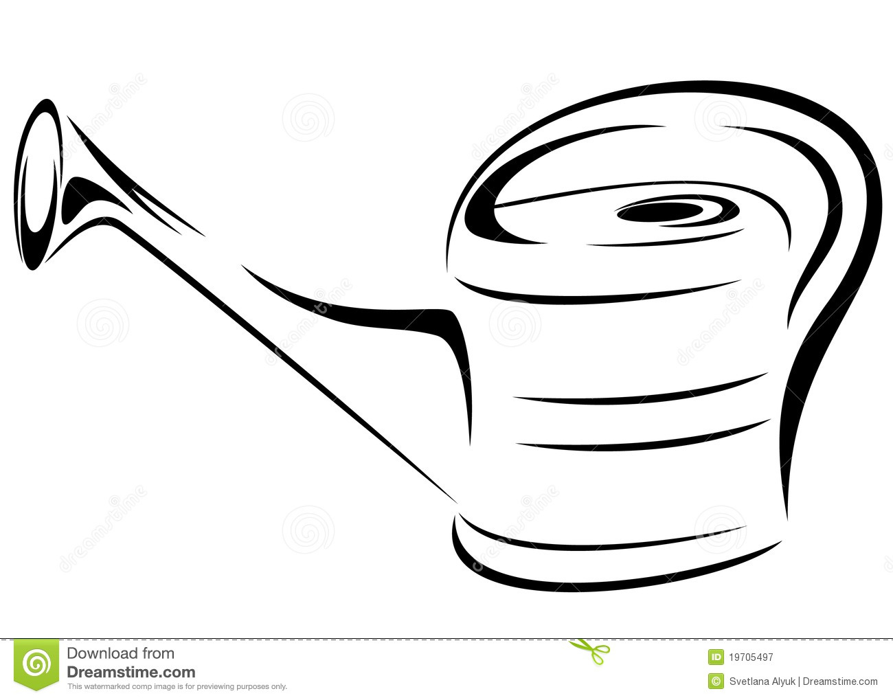 Watering Can Vector Royalty Free Stock Photography