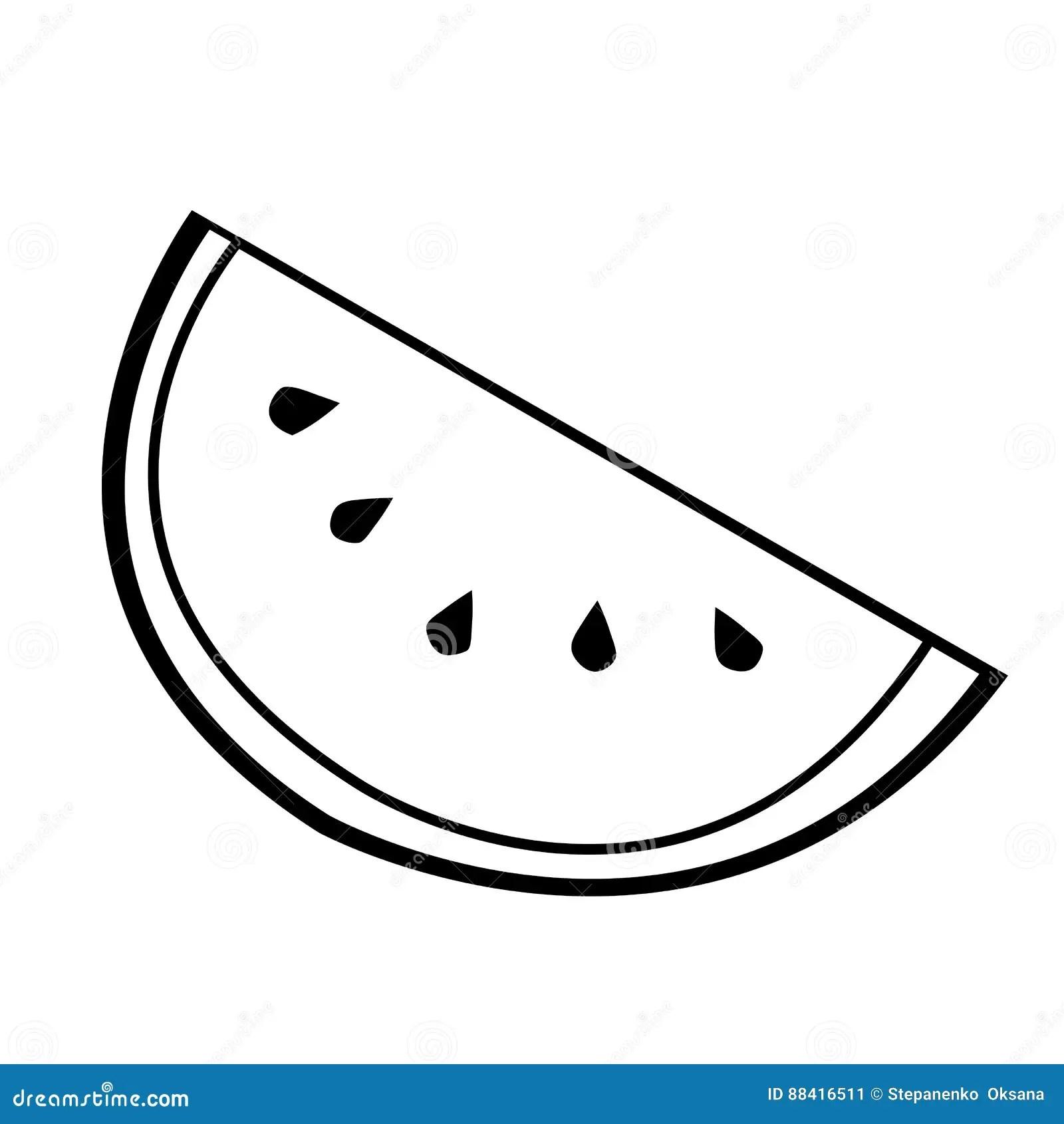 Watermelon Line Icon Simple Logo Berry Blackberry Black