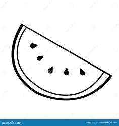 watermelon simple line vector melon water blackberry slice het icon monochrome berry della pictogram embleem zwarte vectorillustratie eenvoudige wit zwart