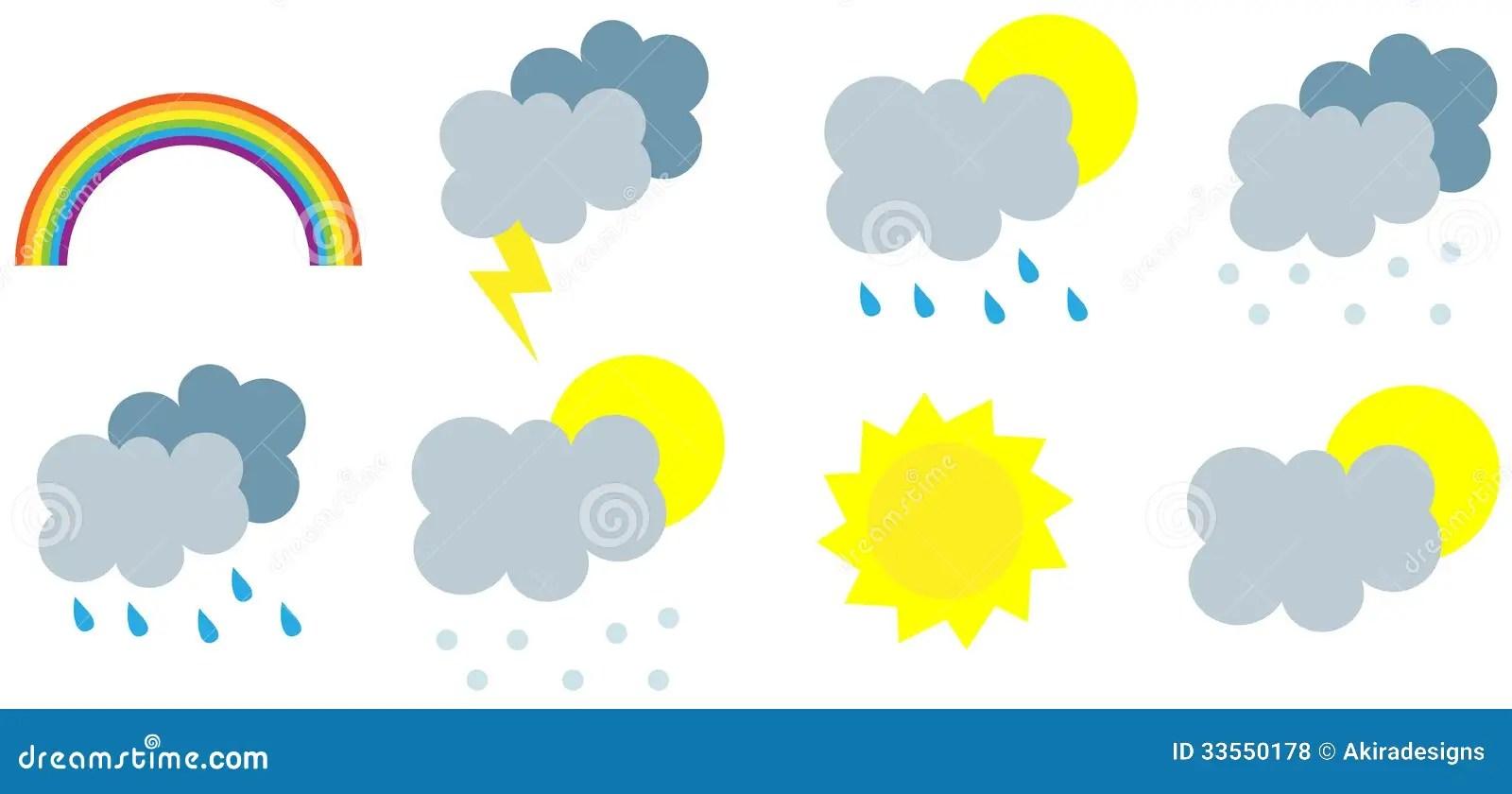 hight resolution of wather seasons forecast symbols