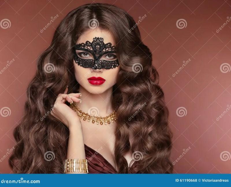 Wavy Hair Beautiful Brunette Girl