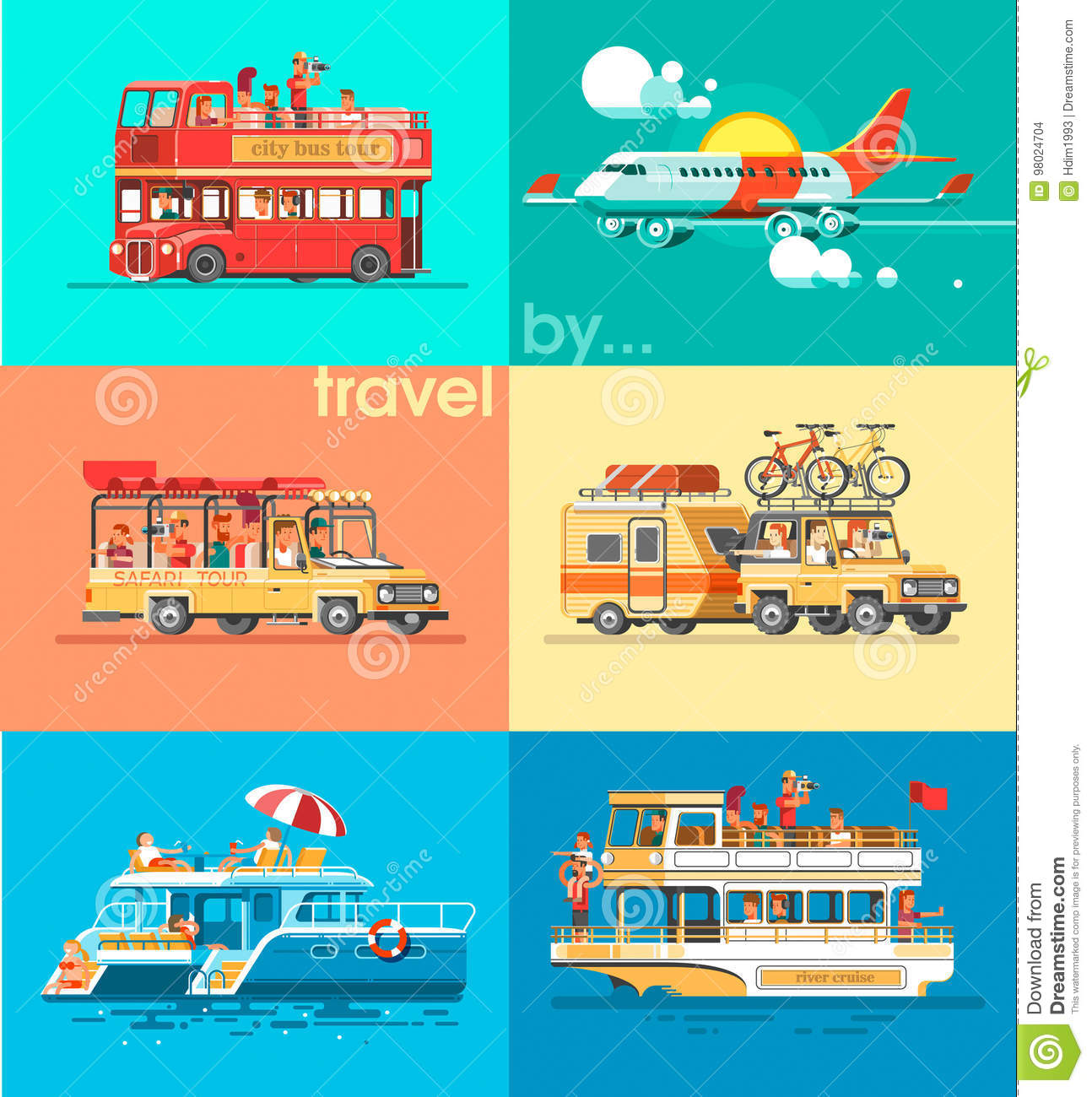 Ways Of Traveling Trip To World By Different Vehicles