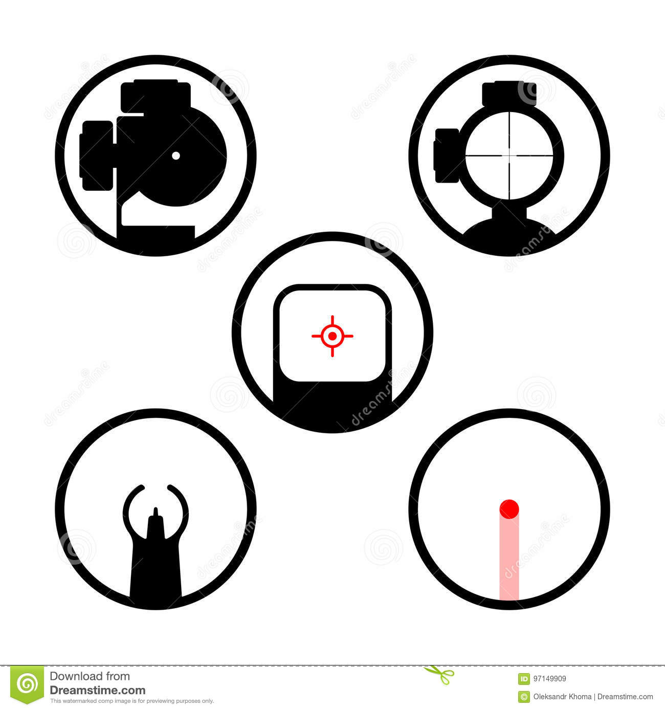 Laser Gun Icons Set Stock Illustrations 59 Laser Gun