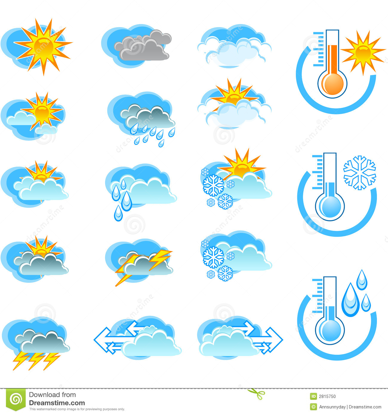 Weather Forecast Vector Icone Stock Photo