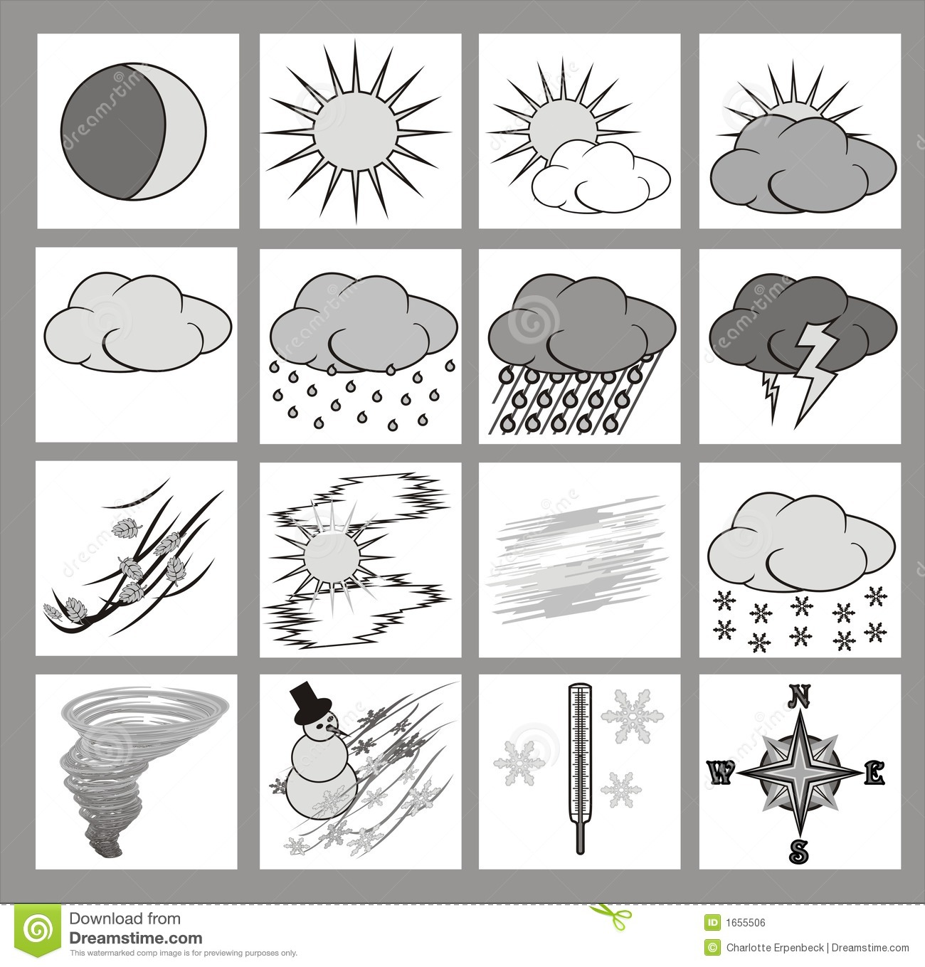 Weather Icons Stock Vector Illustration Of Thermometer