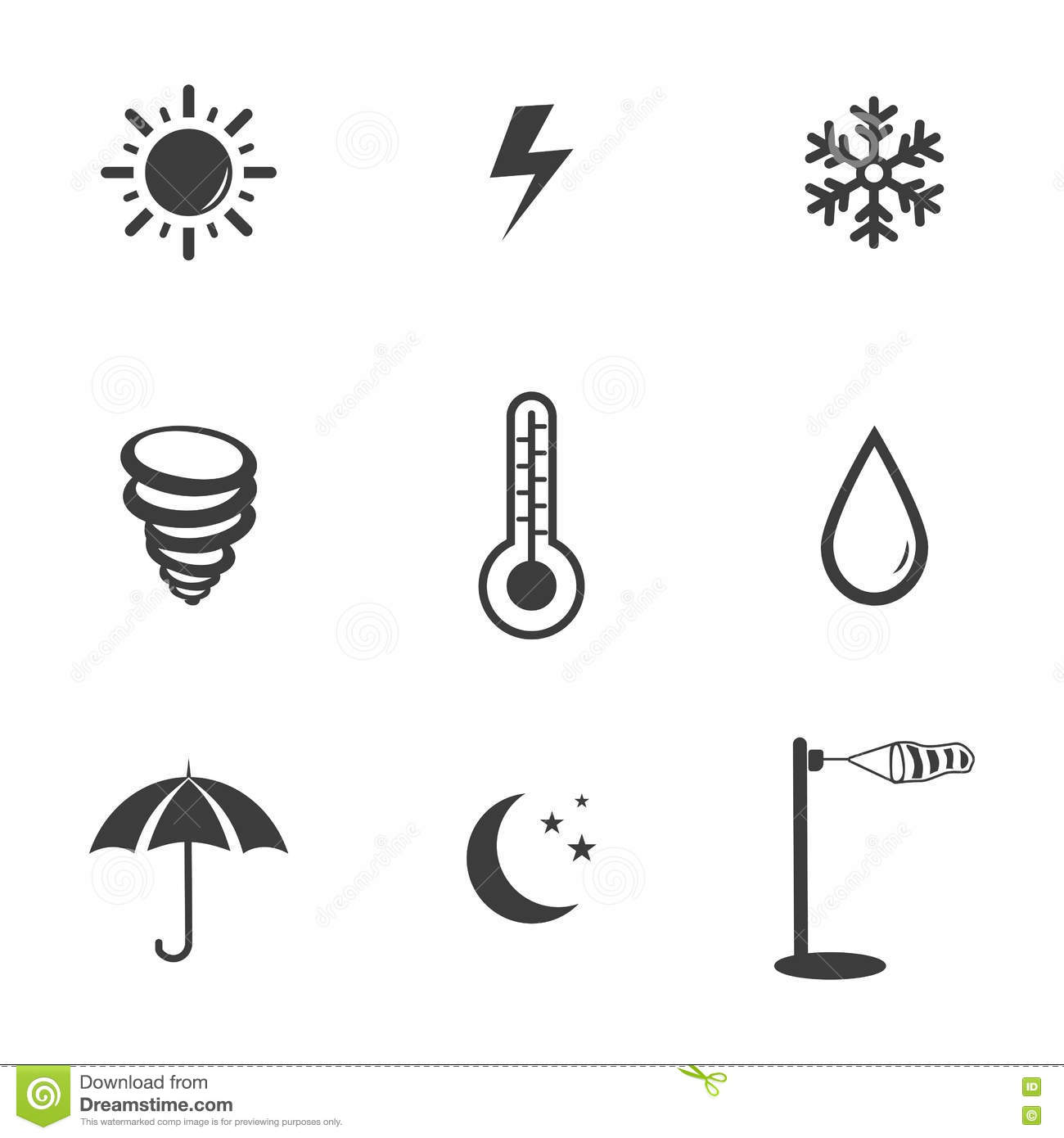 Clouds With Lightning And Rain Drops Icon Vector