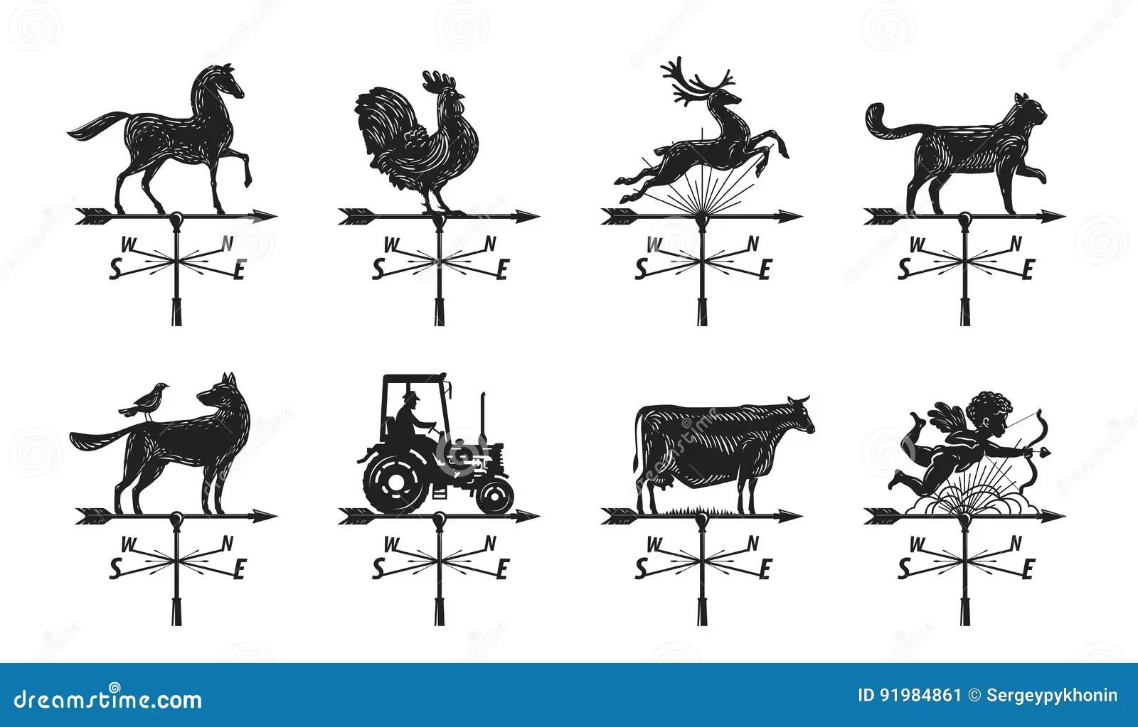 Weathervane Stock Illustrations