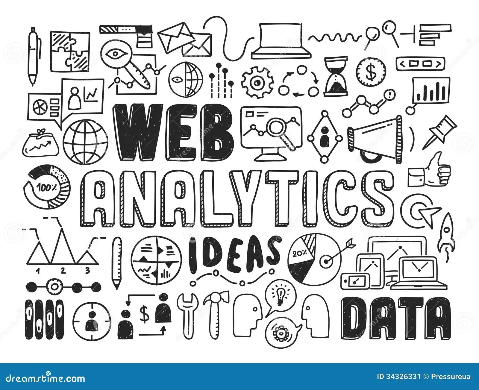 Webytics Doodle Elements Stock Vector