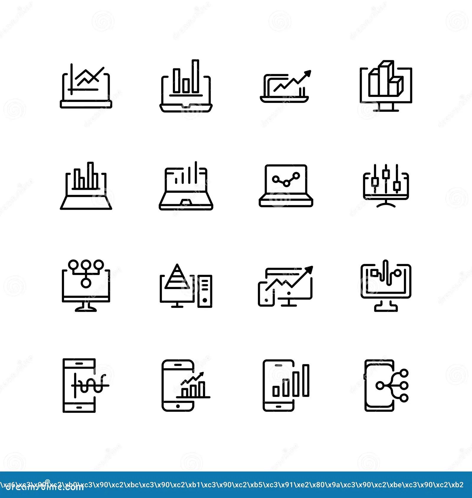 Web analytics flat icon stock vector. Illustration of