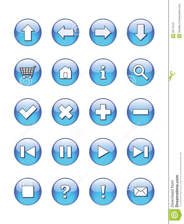 Web Buttons Icons Signs Royalty Free Stock Photography
