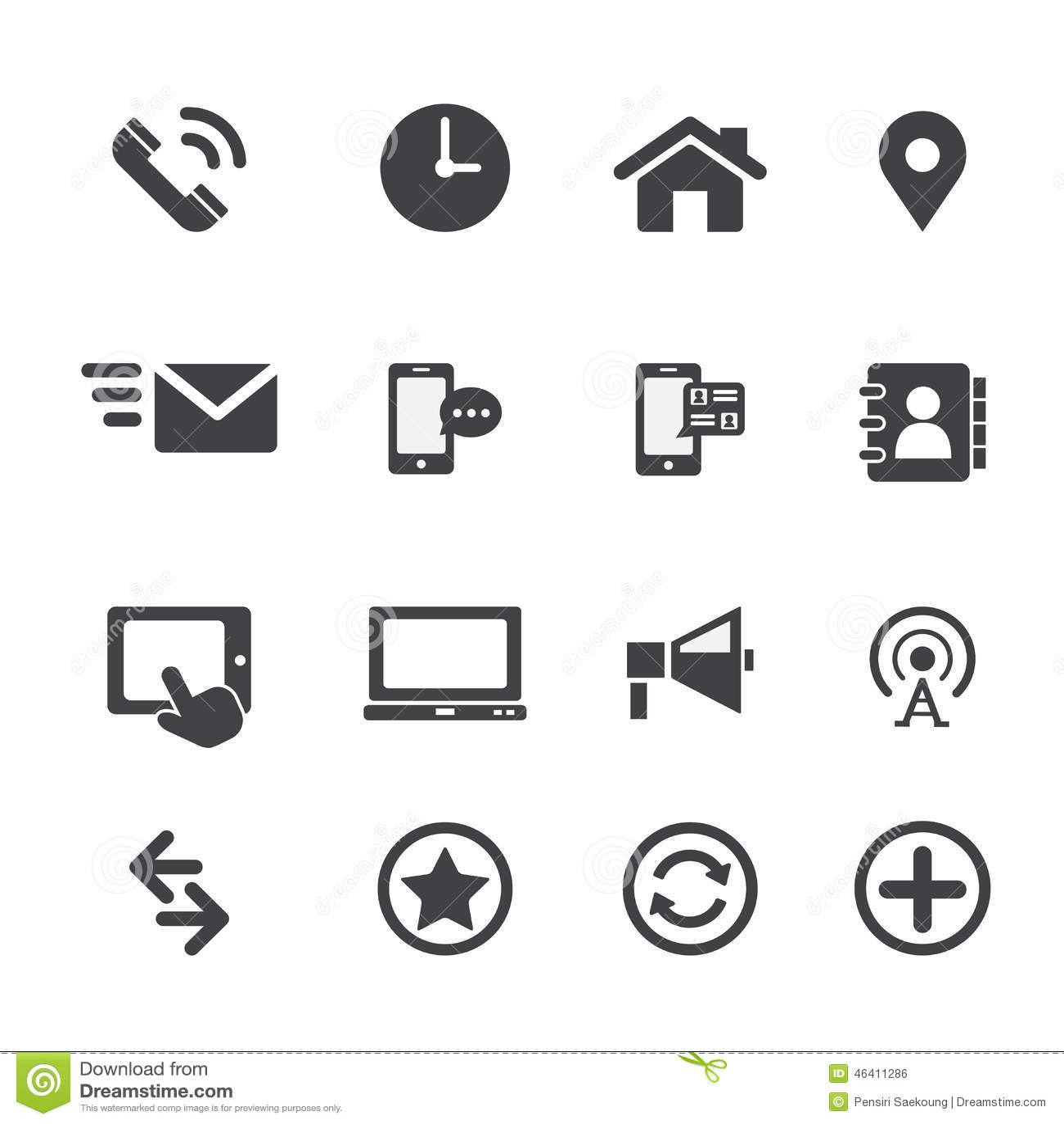 Web Communication Icon Stock Vector