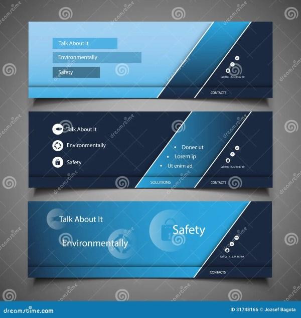 Web Design Elements - Header Stock Vector