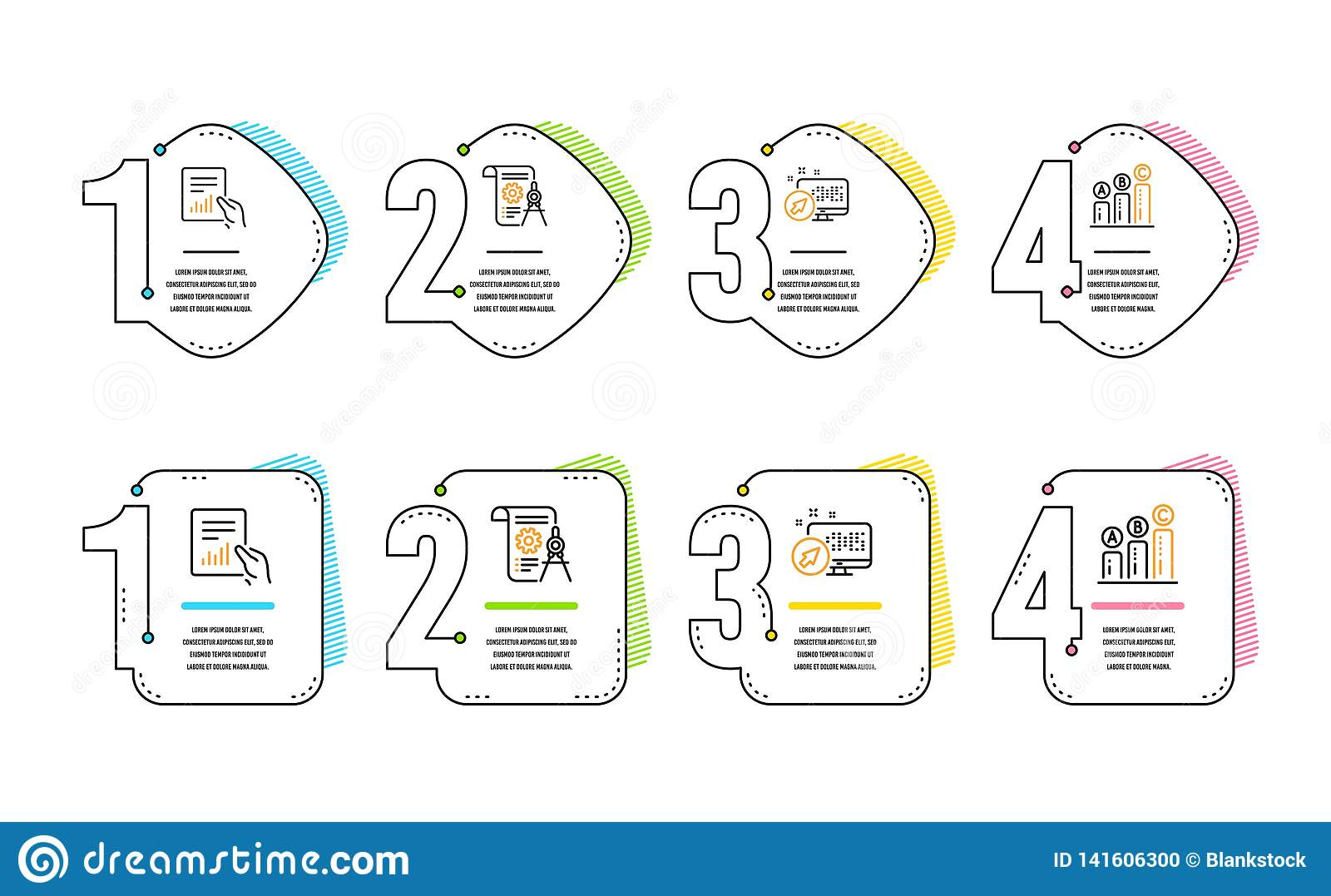 hight resolution of web system document and divider document icons set graph chart sign vector