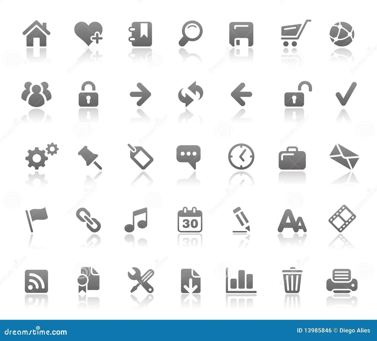 Website Amp Internet Icons Basics Series Royalty Free