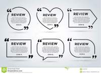 Website Review Quote Blank Template Stock Illustration ...