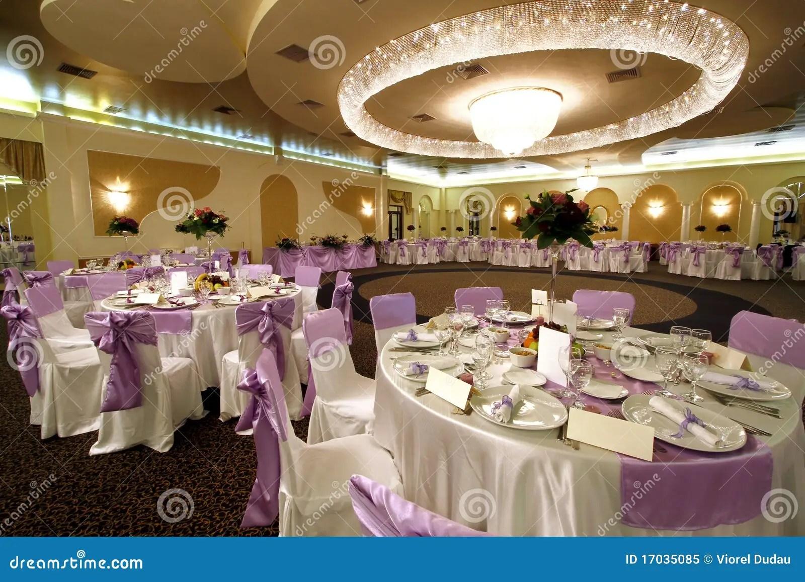 Wedding Or Banquet Ballroom Stock Image  Image of chair