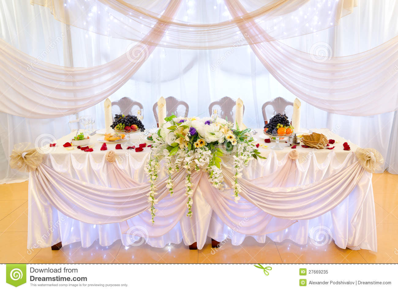 Wedding Banquet Table Stock Image Image Of Decorate