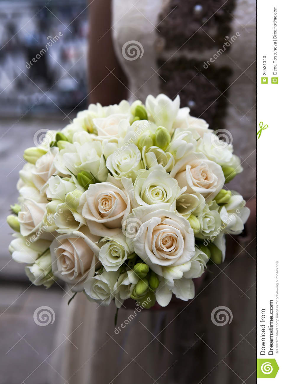 Wedding Bouquet Of Pink And White Roses Stock Photo  Image 26531340
