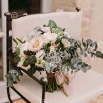 Wedding Bouquet With White Peonies For Rustic Wedding Stock Photo Image Of Background Flowers 179116040
