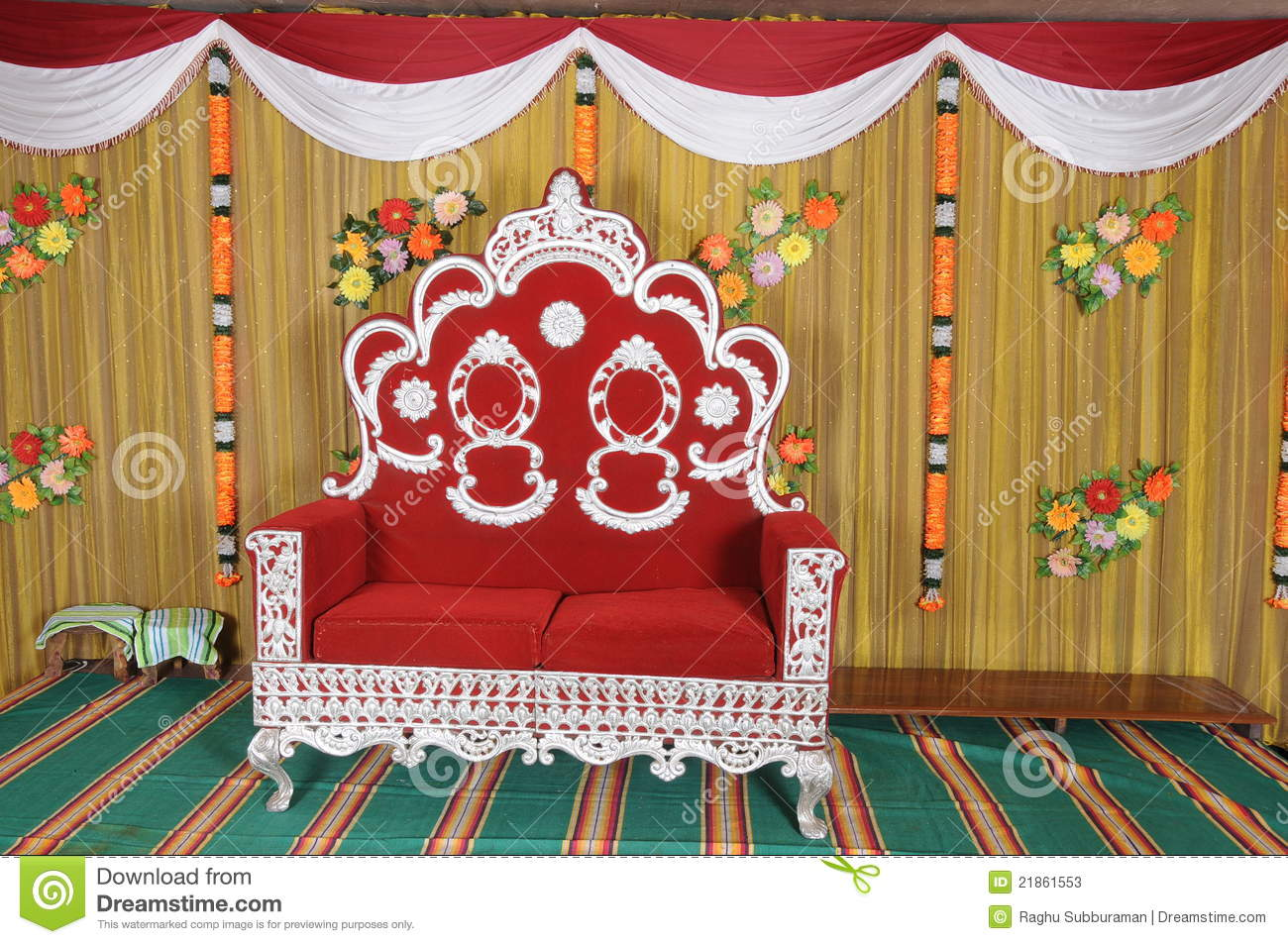 wedding stage chairs hammock style chair ceremony stock image of furniture
