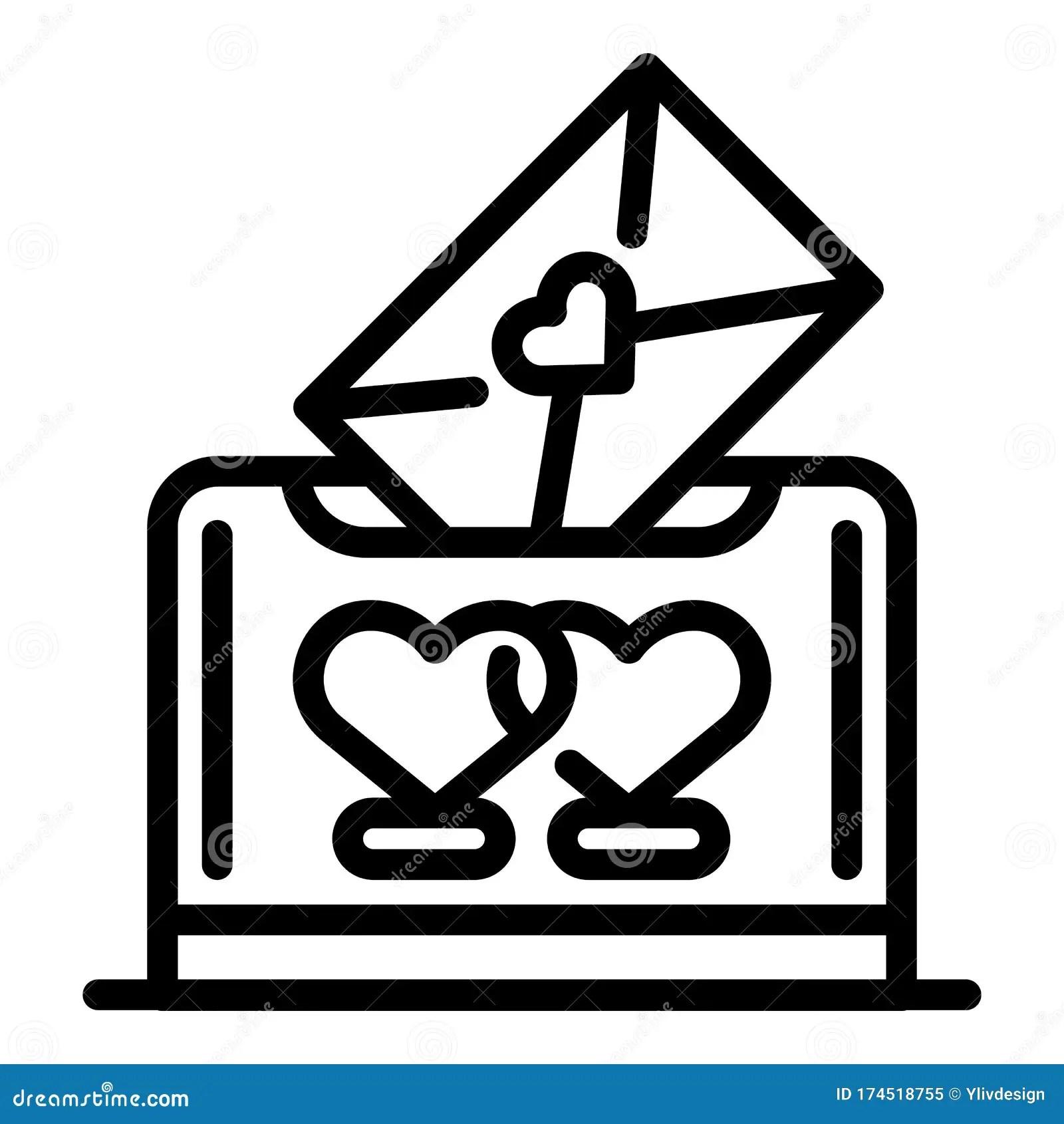 Wedding Ceremony Invitation Icon Outline Style Stock