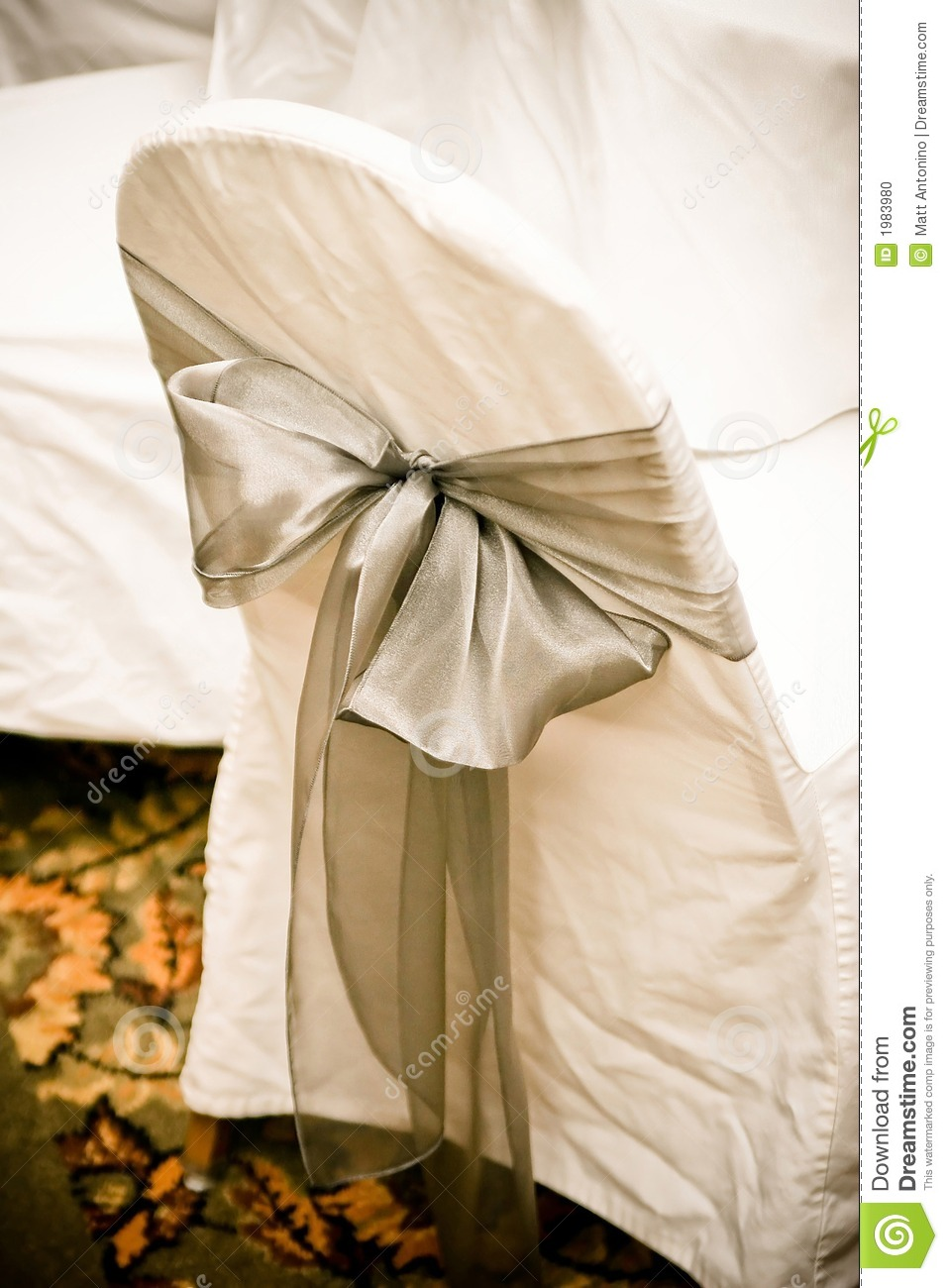 chair covers sage green chairs for teenagers wedding stock photo image of 1983980 a cover with bow