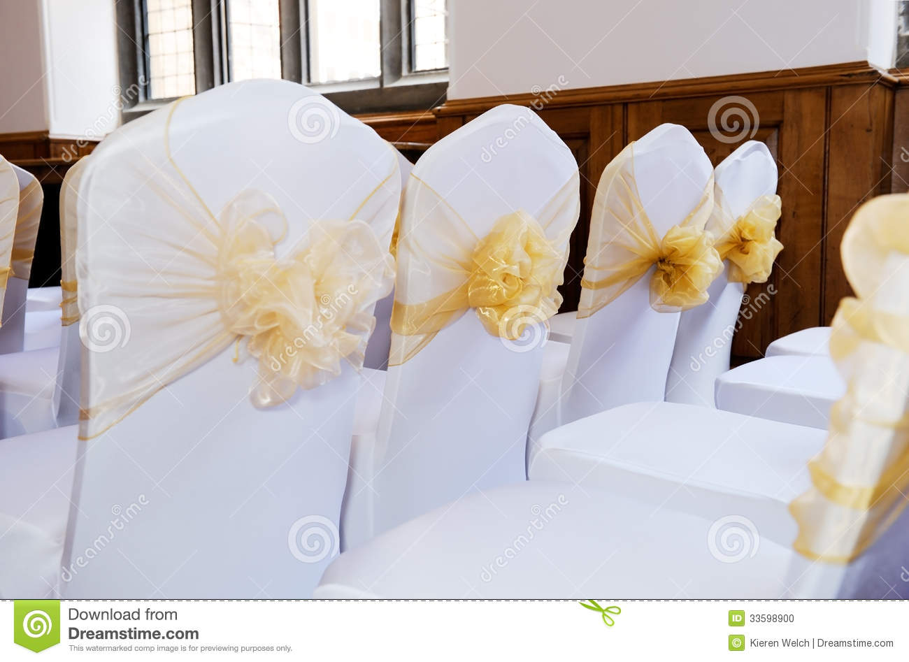 wedding chair covers with bows adams adirondack white stock photo image 33598900
