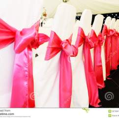 Chair Covers At Wedding Reception Hammock Stand Plans Stock Image Of Cloth Pink 30730811 Chairs With Red Ribbon And Bows Closeup