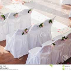 Wedding Chair Covers Chelmsford Funky Office Chairs With Flowers Stock Photo Image