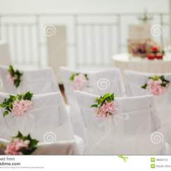 Wedding Chair Covers Rotherham Rei Lawn Chairs With Pink Flowers Stock Photo Image