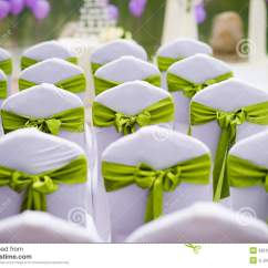 Green Banquet Chair Covers Trex Rocking Wedding Chairs Stock Image Of Innocent Celebration 33518343 The Ribbon Decoration On Cover