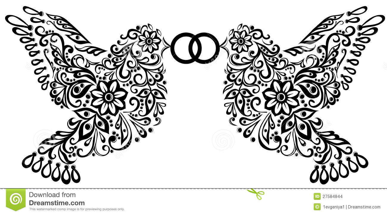 hight resolution of wedding clipart silhouette of two birds