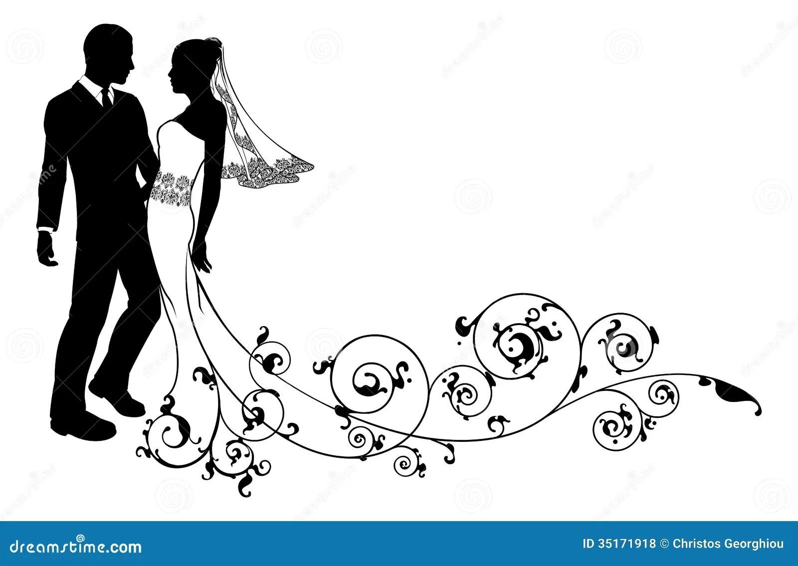 2 way kiss line dance wiring diagram for caravan 13 pin plug wedding couple bride and groom silhouette stock vector