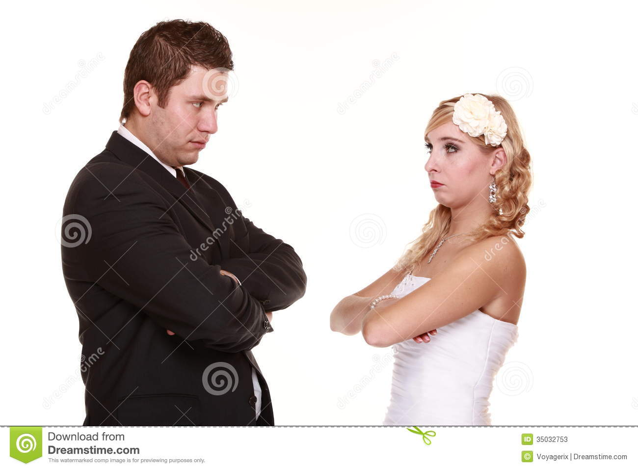 Wedding Couple Conflict Bad Relationships Angry
