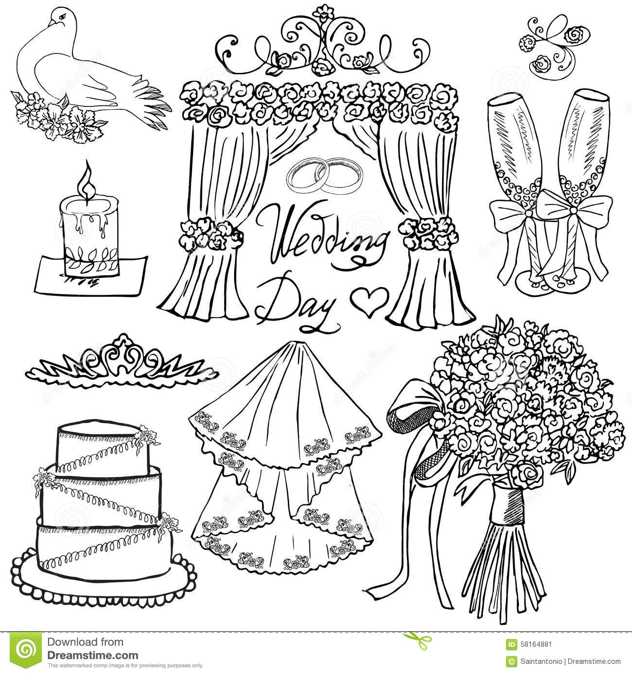 Attributes Of A Wedding Ceremony Royalty Free Stock Image