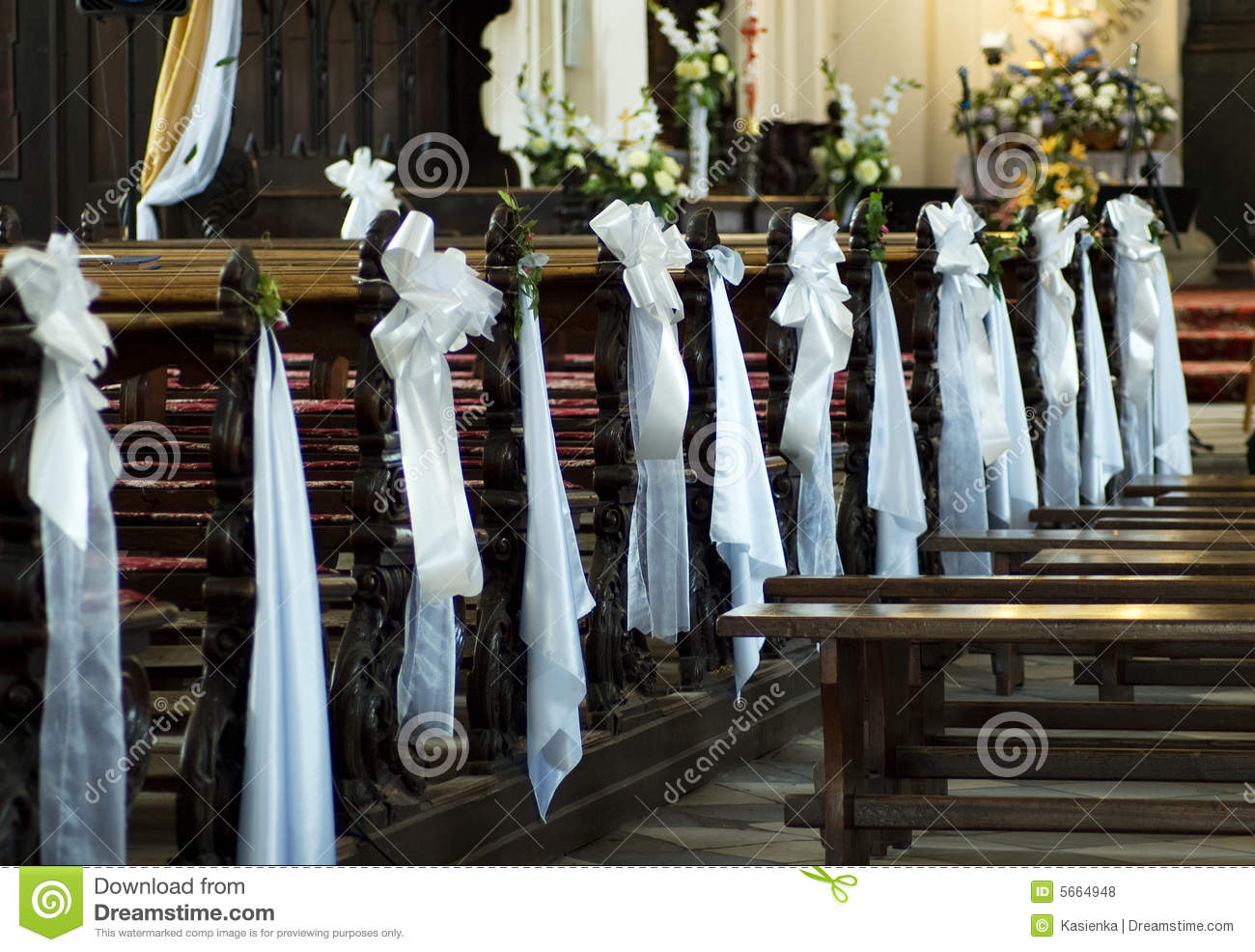 chairs wedding poland for kids with adhd decoration church stock photo image of handmade
