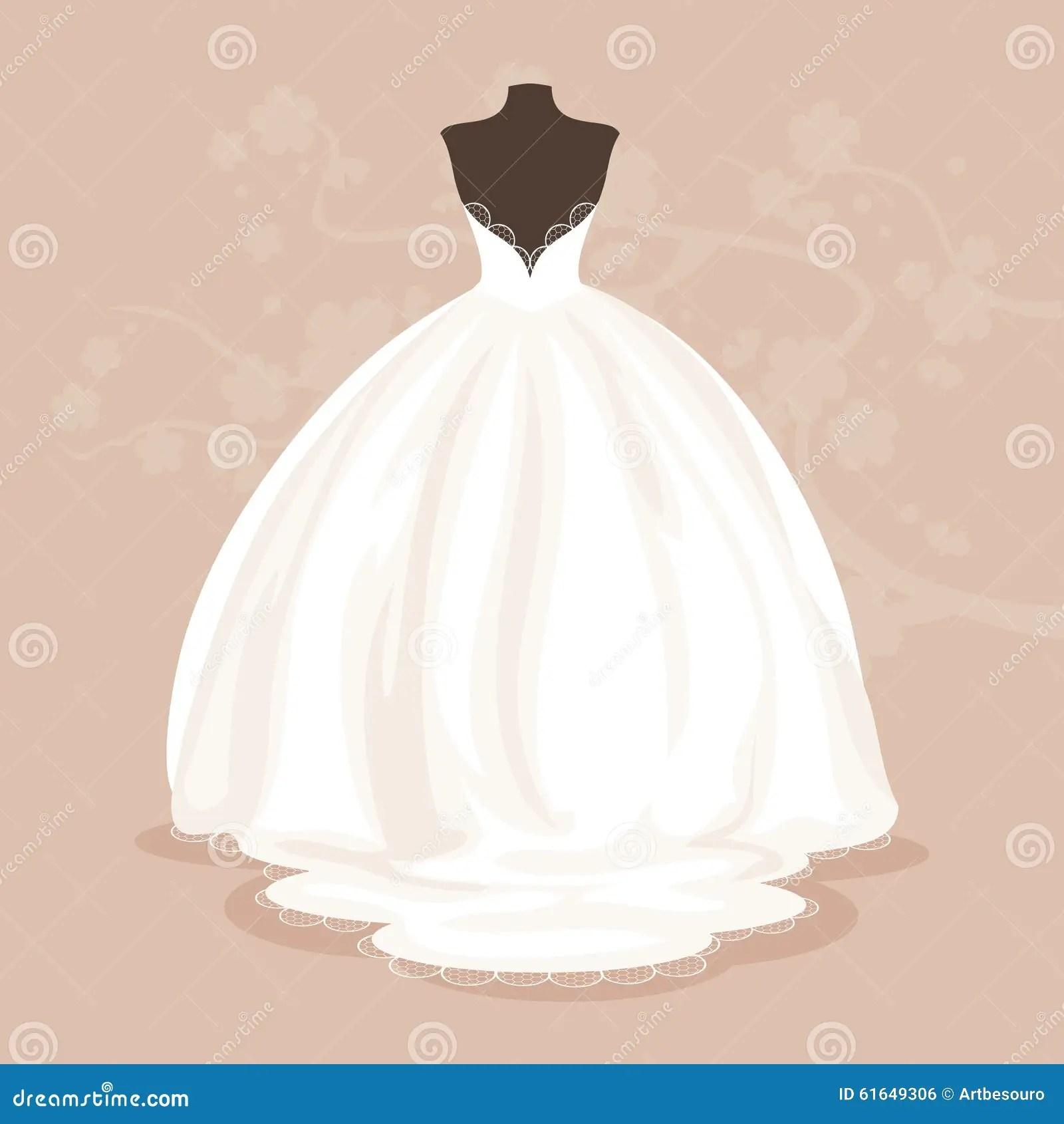Wedding Dress. Vector Illustration Stock Vector