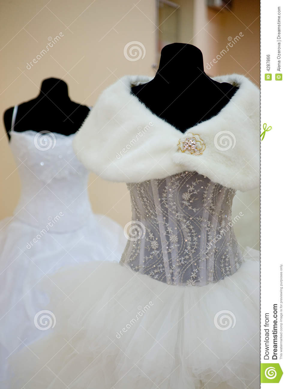 Wedding Dresses On Mannequins Royalty Free Stock Image  Image 4287866