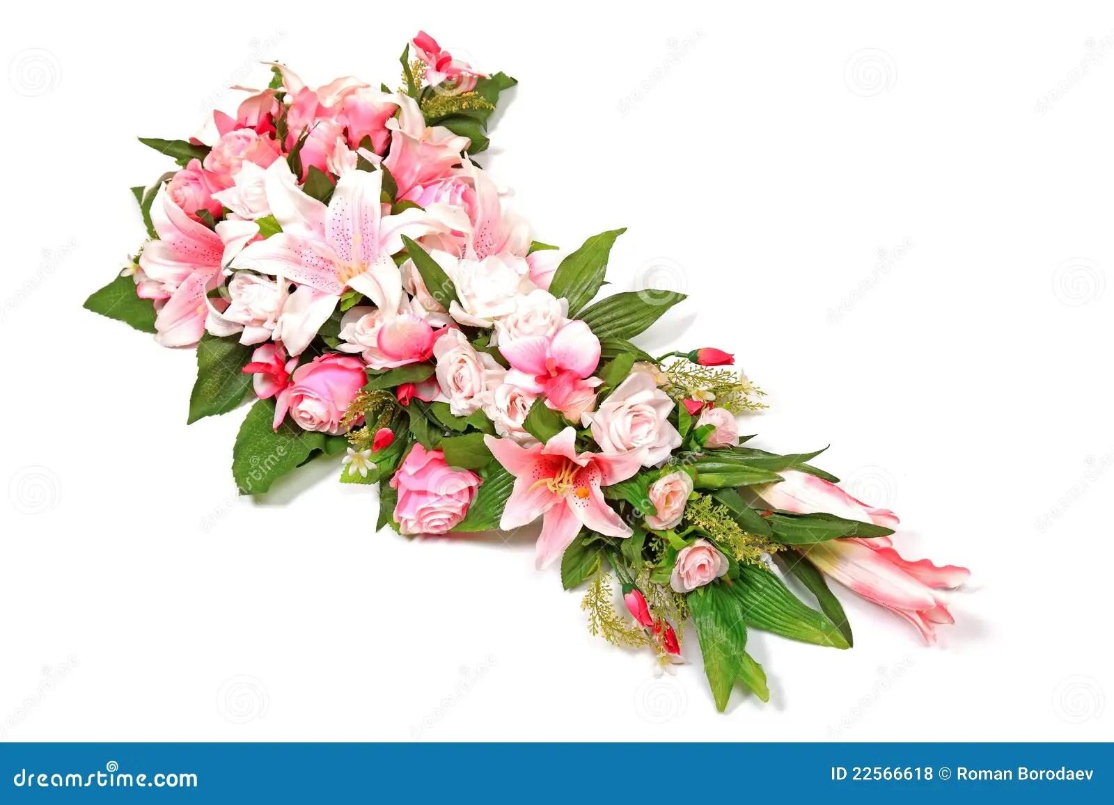 Wedding Flower Composition Studio Shot. Stock Photo