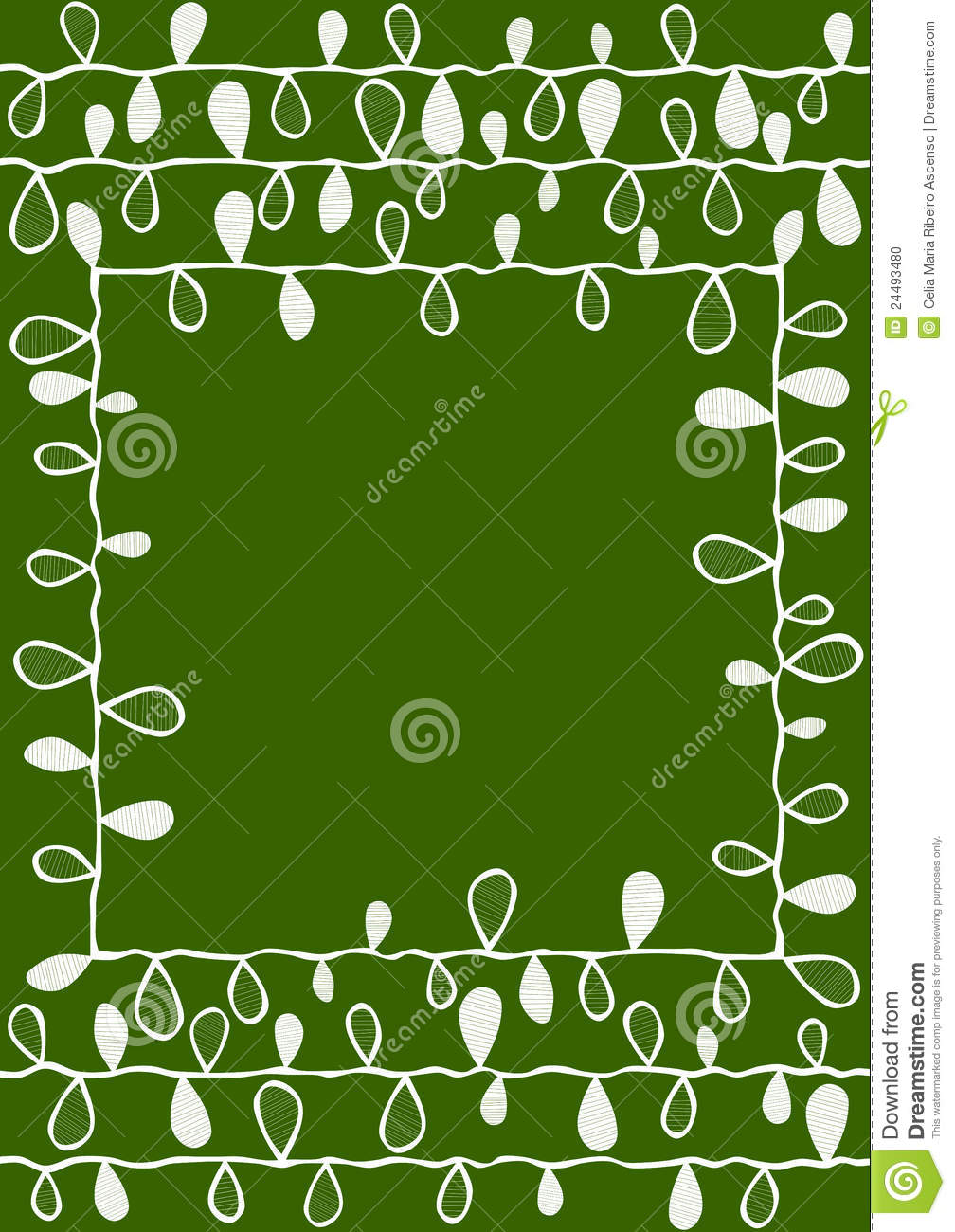 Tree With Leaves Falling Wallpaper Wedding Green Invitation With Leaves Border Frame Stock