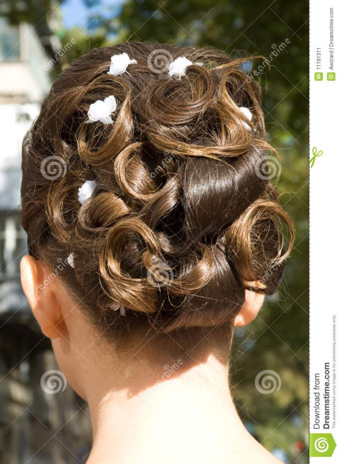 wedding hair style stock image. image of preparations - 11191311
