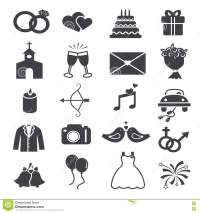 Wedding Icons Set stock vector. Image of archer, flowers