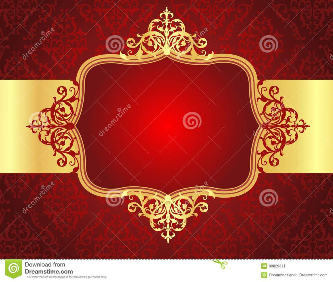 Wedding Invitation Background Designs Red And Gold | Invsite.co