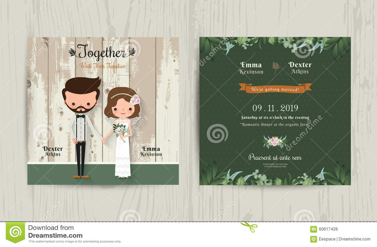 Rustic Wedding Invitations Background