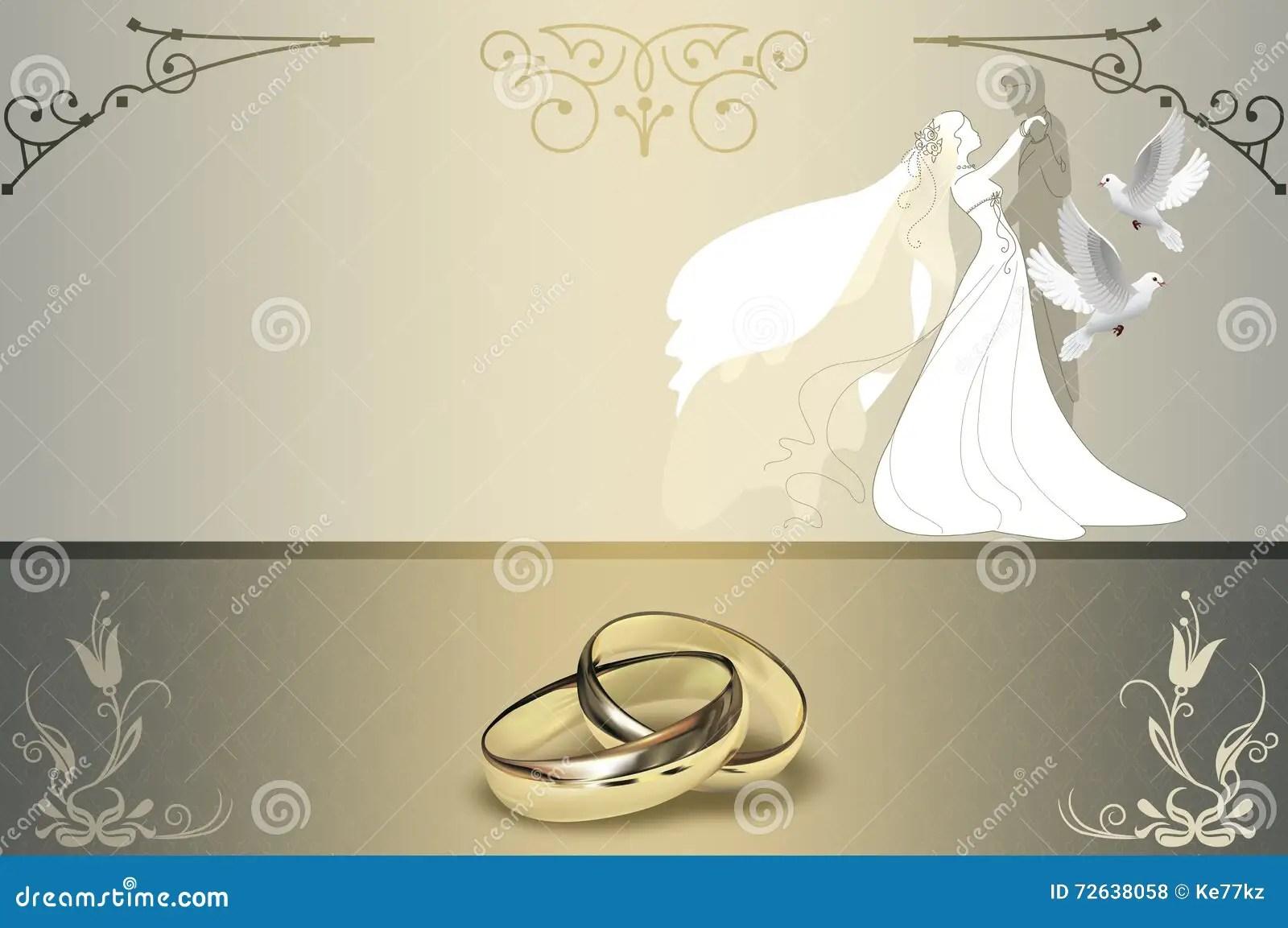 Wedding Invitation Card Design Stock Illustration