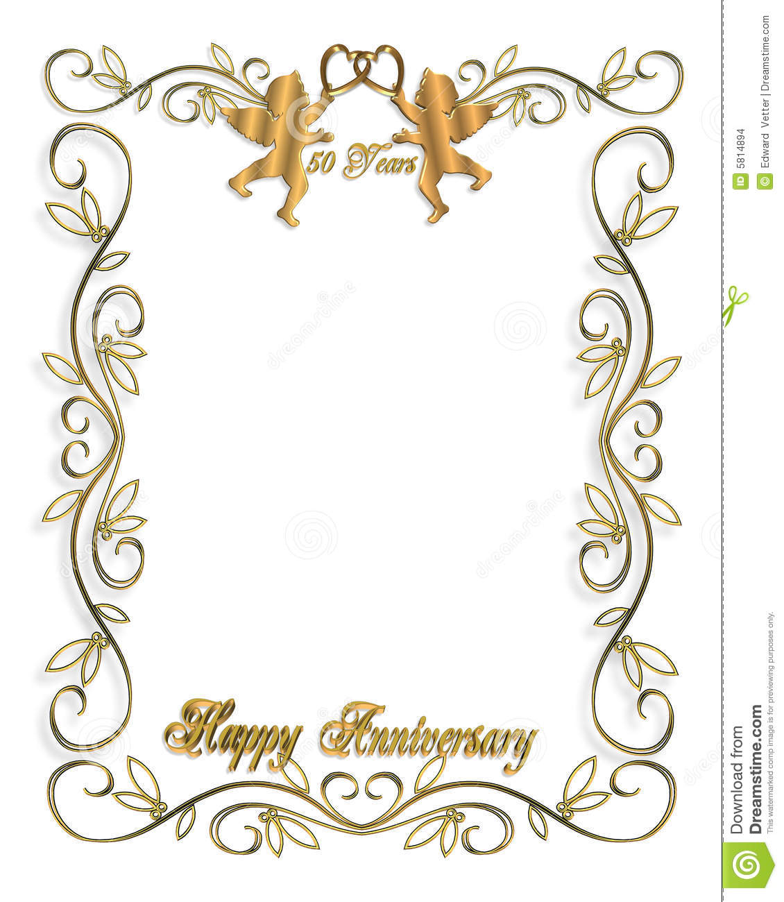 Gold Cake Decorating Clip Art