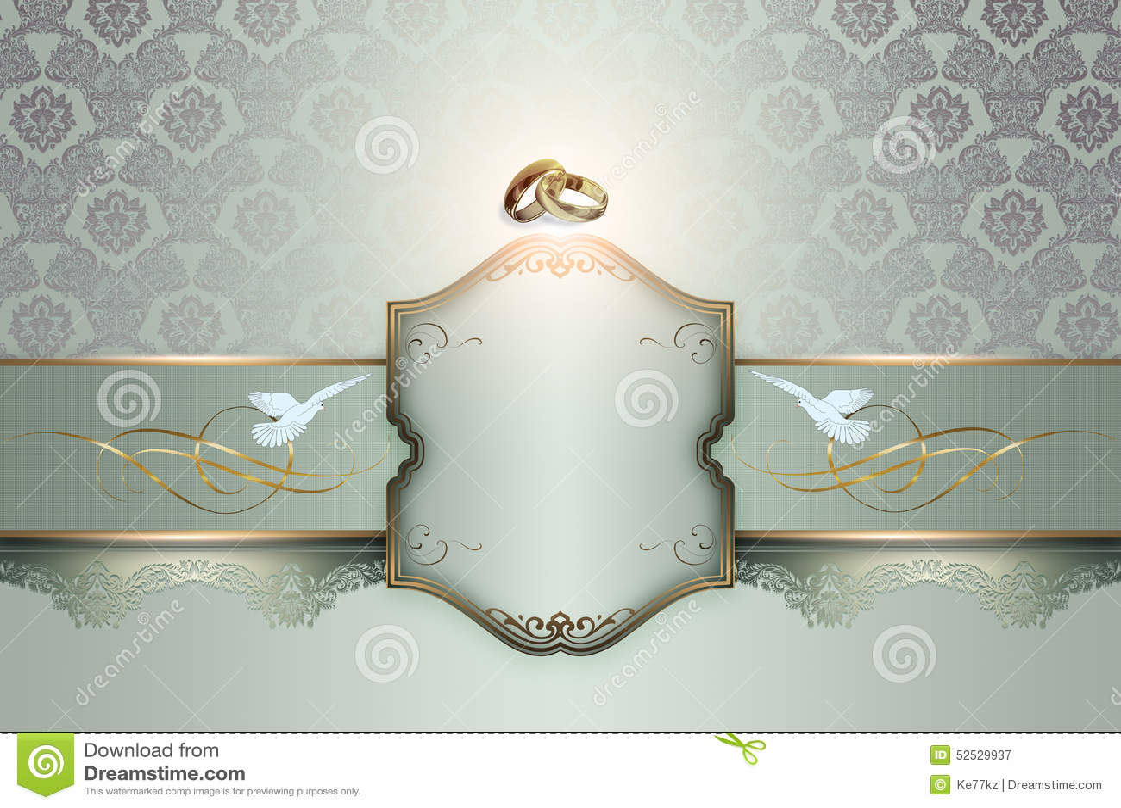 Wedding Invitation Template Stock Illustration  Image 52529937